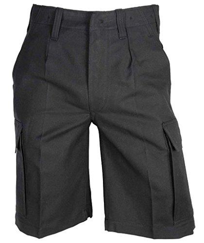 A. Blöchel Kurze Bundeswehr Bermuda Feldhose Molsekin Arbeitshose Shorts 6-11, 58, 60 (7, Schwarz)