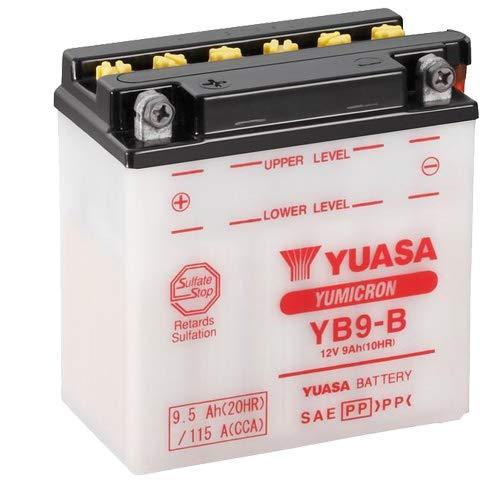 Batterie YUASA YB9-B (DC) offen ohne Säure, 12V|9Ah|CCA:115A (137x77x141mm) für Gilera Runner SP 50 DD Pure Jet Baujahr 2010
