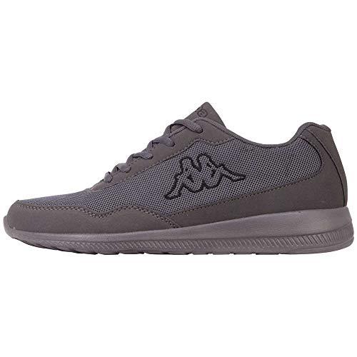 Kappa FOLLOW OC | Freizeit-Sneakers für Frauen und Männer | super-leicht, modisch und zeitlos | angenehmes Tragegefühl | atmungsaktiv, Größe 36 - 461611 grey/black, Größe 44
