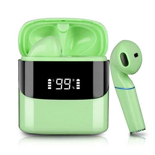 Auriculares Deportivos inalámbricos Sendowtek Auriculares Bluetooth, el Control táctil del micrófono es Resistente al Agua y se Carga rápidamente.