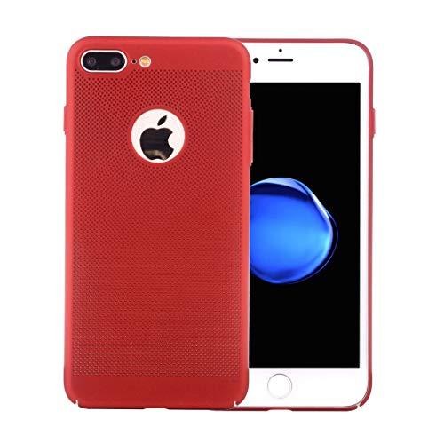 Wckxy Teléfono for el iPhone Plus 8 y 7 Plus tamaño Fresco Cobertura Completa de PC a Prueba de Golpes de protección Cubierta Posterior (Color : Red)