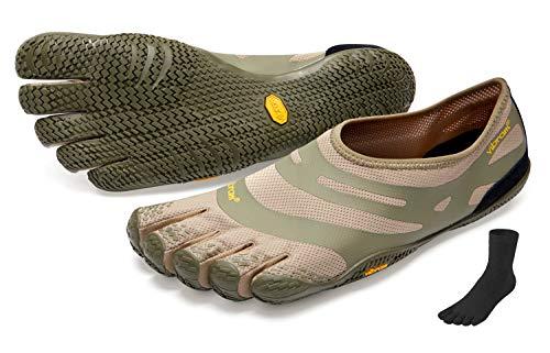 Fivefingers Vibram EL-X + calcetín de dedos, talla: 42; color: caqui/coyote.