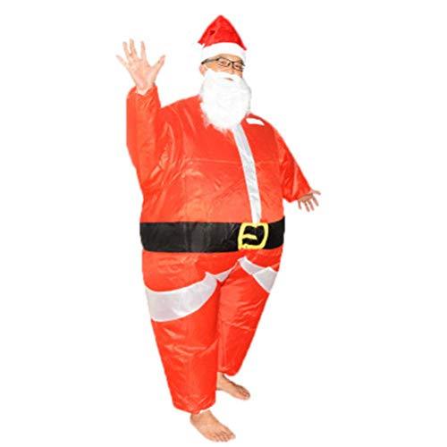GaLon Opblaasbare kleding Kerstman Explosion grappig mascara-kostuum voor volwassenen