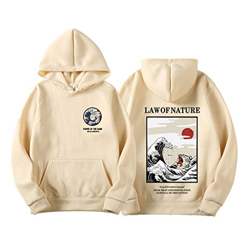 Funny Cat Wave Druck Hoodies Japan Style Hip Hop Beiläufig Lustige Katzenwelle Männer Kapuzenpullover Sweatshirts Strassenmode