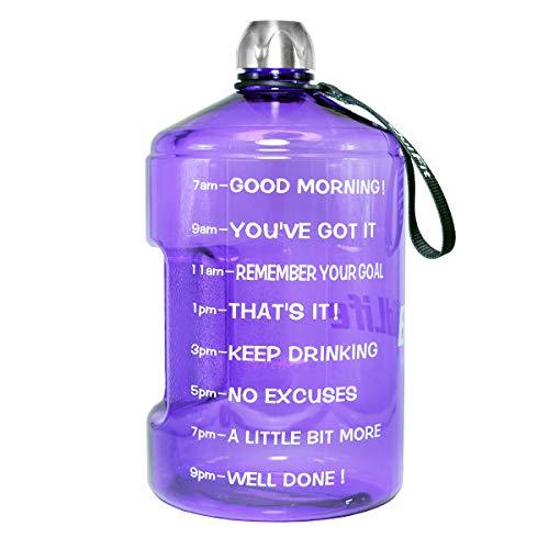 QuiFit 3.78L Violett PETG Wasserflasche Mit aufgedruckter