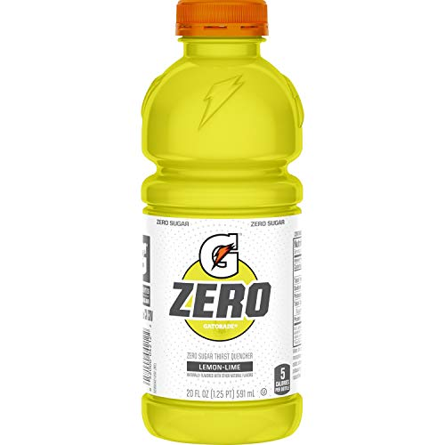 12 Pack 20 Fl Oz, Gatorade Zero Sugar Thirst Quencher, Lemon-Lime -$6.05(50% Off)