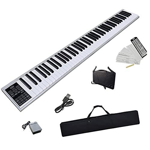 ニコマク NikoMaku 電子ピアノ 88鍵盤 SWAN Lite 2021年最新 高音質 コンパクト 携帯型 スリムデザイン 光る MIDI対応 充電型 長時間利用可能 練習にピッタリ ペダル ソフトケース 譜面台 鍵盤シール付き