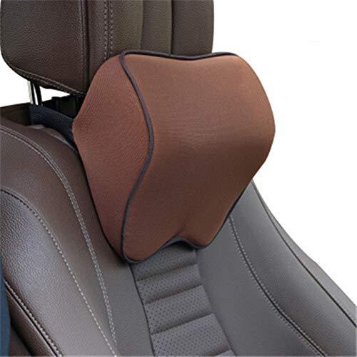 XCYY Almohada del Cuello del Coche del Amortiguador De Asiento Auto Soporte Cabeza Protector De Cuello Automóviles Resto del Cuello del Asiento (Color : Brown)