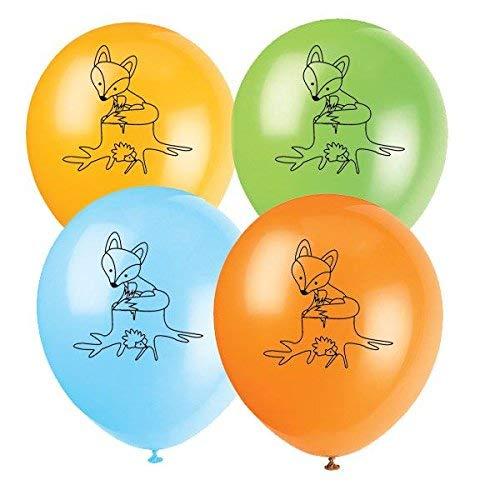 8 Luftballons * KLEINER FUCHS * als Deko für Kindergeburtstag und Motto-Party // Geburtstag Party Motto Wald Balloons Dekoration