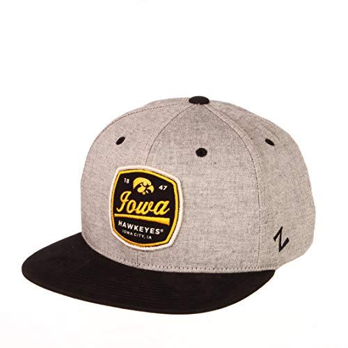 NCAA Iowa Hawkeyes Mens Montpelier Snapback Hat, Grey/Team Color, Adjustable