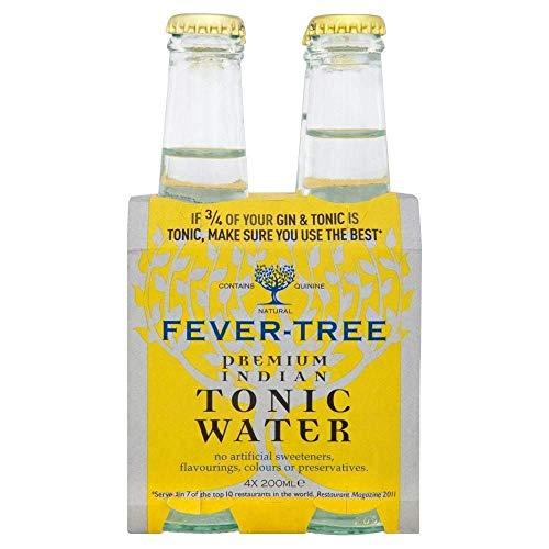 Fever-Tree Indian Tonic Water Bottles 4 x 200 ml