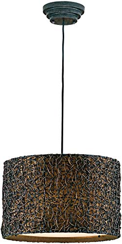 Hot Sale Uttermost 21103 Knotted Rattan 3 -Light Hanging Shade, Espresso Finish