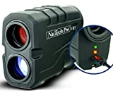 NuTech Pro Rechargeable Golf Rangefinder with Slope USB Charging / 659 Yards. 6X Laser Range Finder. Flagpole Lock, Vibrate, Continuous Scan Slope Rangefinder for Golf. Bright LED. Super Accurate