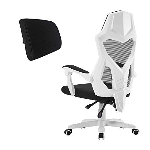 HOMEFUN Ergonomic Office Chair, High Back Adjustable Desk Task Chair with Armrests White with Lumbar Support