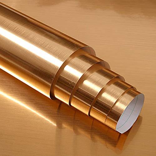 Hode Golden Klebefolie Selbstklebende Folie DIY Dekorfolie Wasserdicht PET+PVC Metall-Optik 40X300cm