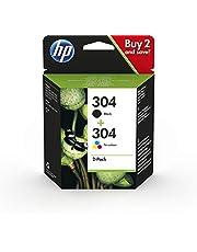HP 304 Inktcartridge Zwart, Cyaan, Geel, Magenta, 3 kleuren en zwart 2-Pack (Standaard Capaciteit) (3JB05AE) origineel van HP