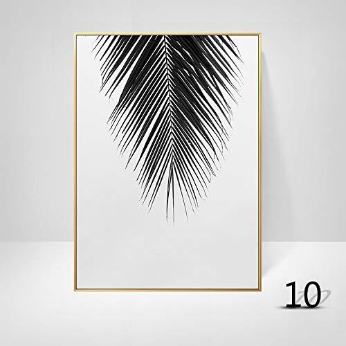 WSNDGWS Nordic zwart-wit schilderij laat dier paard eenvoudige brief schilderij kern kunst tuin groene woonkamer decoratie schilderij zonder fotolijst 30x40cm J2