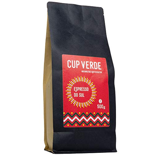 CUP VERDE – Espresso do Sul ganze Bohne - 500 g Gourmet Kaffee – Reich an Crema und Aroma. Handröstung als Masterblend feinster Kaffeegenuss