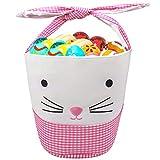 Leesgel Bunny Easter Basket for kids, Easter Basket for Girls Boys Easter Baskets with Handle Easter...