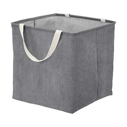 Amazon Basics – Canasto de tela, grande, cúbico, gris oscuro