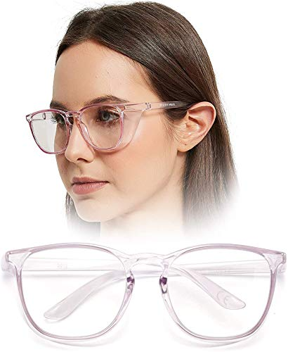 Anti Fog Safety Goggles Protective Glasses,Blue Light Blocking Eyeglasses for Men Women,UV410 Protection ANSI Z87.1 (Large Light Purple)