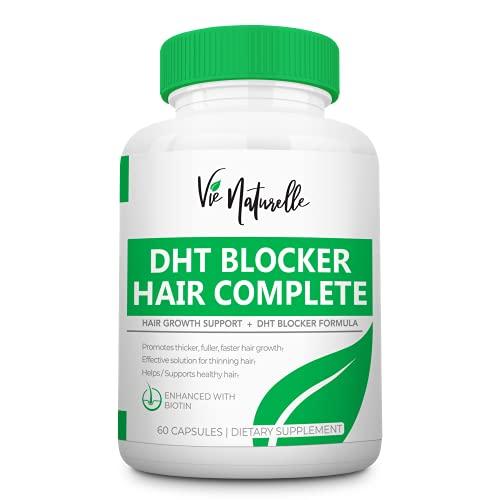 DHT Blocker Supplement & Hair Supplement - Hair Growth Vitamins for Women & Men - DHT Pills Hair...