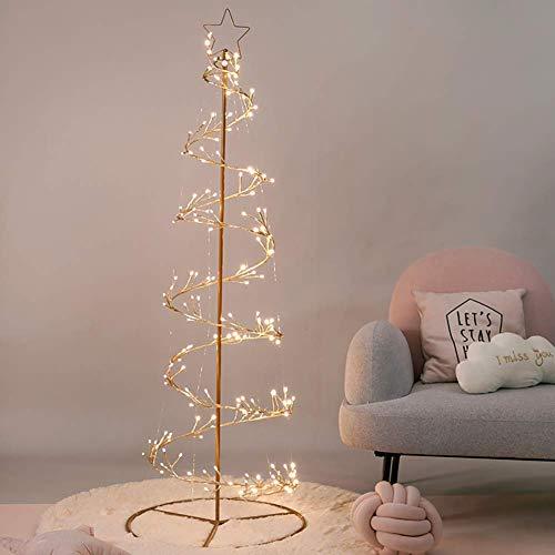ZLJ Warm White Decoration Luminous Tree Easter Holidays Party Wedding Indoor Decorations 180cm 234 LED Lighted Christmas Tree