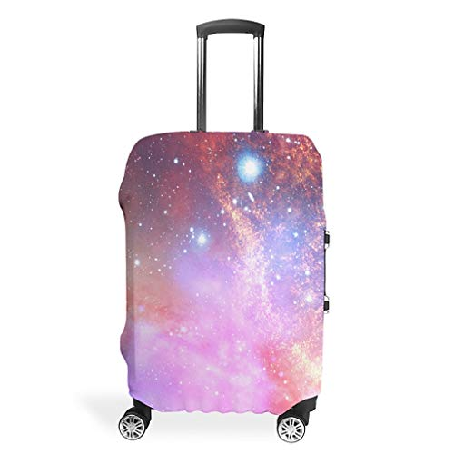 Galaxy Travel Luggage Covers - Universe Unique Suitcase Protective Cover Multiple Sizes Fit Protective Luggage, White (White) - Bannihorse-scc