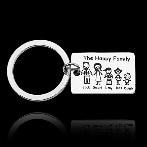 Persönlichkeit Schlüsselanhänger Familien-Liebe Schlüsselanhänger Namen Besonders Angefertigt Personalisierte Haustiere Gravierte For Eltern, Kinder Geschenk Schlüsselanhänger Taschenanhänger Tränke
