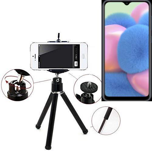 K-S-Trade® Smartphone Trípode/Soporte Móvil/Trípode como para Samsung Galaxy A30s. Trípode De Aluminio/Trípode con Soporte para El Teléfono Móvil, Universal para Todos Los Teléfonos