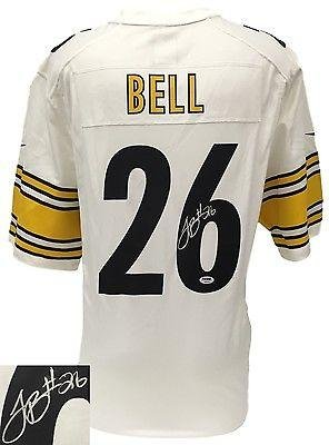 Le'veon Bell Signed Custom Football Jersey Auto PSA/DNA White