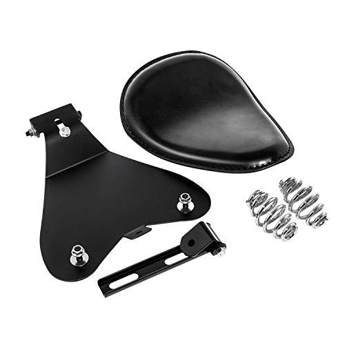 3' Leather Solo Seat with Spring Bracket Kit for Sportster XL 1200 883 48 Chopper Bobber Seats Custom