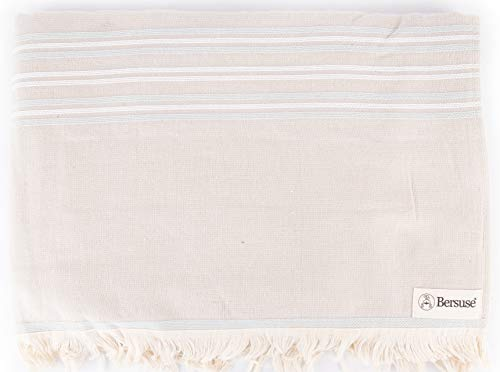 Bersuse Lagos - Toalla turca (100% algodón, 90 x 170 cm, 6 unidades), color gris