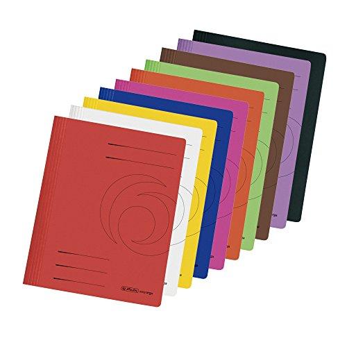 10 Herlitz Manila Karton Schnellhefter / DIN A4 / 10 verschiedene Farben