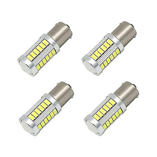 Gmasuber 1156 BA15S Bombillas LED blancas 1156 5630 33SMD coche LED señal de giro trasera trasera bombilla de parada