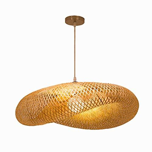 RDYL Lampadario in Rattan di bambù Naturale lampadario Creativo Retro lampadario Fatto a Mano Cappello di Paglia Piccolo lampadario Cucina Luce Notturna Soggiorno Camera da Letto lampadario E27,50cm