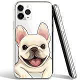 French Bulldog Phone Case Compatible with iPhone 12 Pro Max,Soft TPU Silicone Slim Transparent Protective Case for iPhone 12 Pro Max,Gift for Women Girls