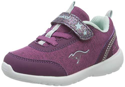 KangaROOS Unisex Baby KY-Citylite EV Sneaker, Dk Berry/Mint, 24 EU