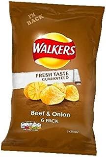 Walkers Crisps - Beef & Onion (6x25g)
