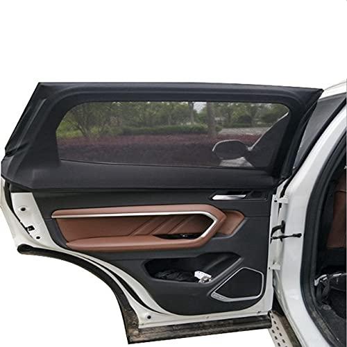 FYLYHWY 2 PCS Window Solshades Coche Puerta Delantera Lado Sol Sunde Summer UV Protección Sunshades Net Mesh Cortina de Coche para MPV SUV Sedan (Color : 100cm 50cm)