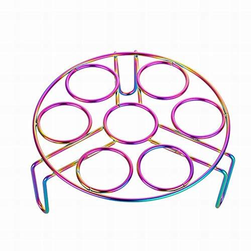 TangMengYun Wok Aufsatz Ring 1 stück dauerhaft Edelstahl Ei Dampfer Rack Kochen Fisch Dumpling Shelf Küche Utensil Multifunktionstopf Dampfschalenständer Runde Dampfgareinsatz Stand (Color : NO.0 B)