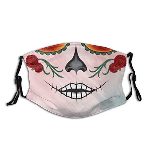 Pañuelo de tela lavable con 2 filtros para adultos y hombres