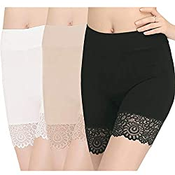 Super Soft stretch short leggings -- Suitable for weight: appr 50-80KG, 95% Viscosefiber , 5% spandex. silky, skin-friendly, elastic, antibacterial and absorptionof moisture, can wear comfortably for a full day. No rolling up legs -- 1/2 length cotto...
