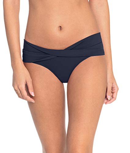 Robin Piccone Swimwear Women's Ava Twist Bikini Bottom Navy L