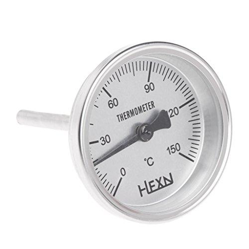 BLEUNUIT Termómetro de Cocina, termómetro de Acero Inoxidable con Rosca de 1/4 PT, medidor de Cocina de Cocina de luz de Luna
