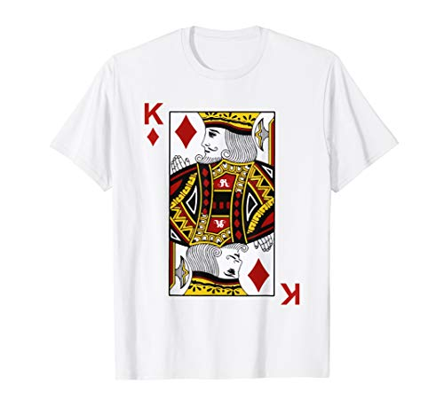 King of Diamond Tshirt Blackjack Cards Poker 21 K Tee shirt
