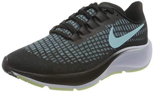 Nike Wmns Air Zoom Pegasus 37, Zapatillas para Correr Mujer, Black Glacier Ice Barely Volt White, 36.5 EU