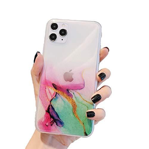 Bakicey - Carcasa de silicona para iPhone 12 Mini, diseño de mármol brillante