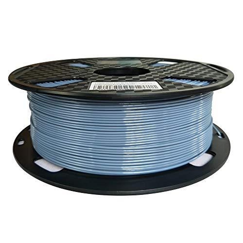 Filamento PETG gris azul 1,75 mm 1 kg gris filamento de impresión 3D carrete 1 kg material de...