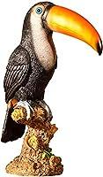 ガーデン 置物 屋外の庭の飾り屋外の中庭の鳥の工芸品の防水樹脂鳥像のための創造的な美術彫刻のための彫刻彫刻-A.